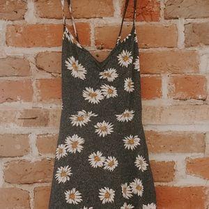 Urban Outfitters Sunflower Navy Polka Dot Sundress